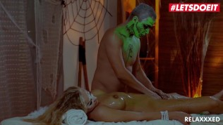 LETSDOEIT – Busty MILF has Happy End Massage On Halloween Night